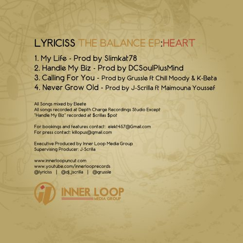 Lyriciss - The Balance EP: Heart /