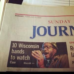 WAMI Award winning artist Klassik front page news. (credit MJS)