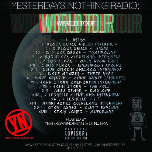 Music Quickies: Yesterdays Nothing Radio - World Tour (Mixtape)